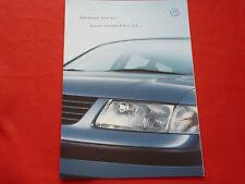 """VW Passat B5 3B Limousine Variant """"Edition"""" Sondermodell Prospekt Brochure 2000"""