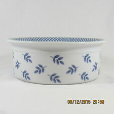 Villeroy & Boch Switch 3 Souffle pan porcelain white blue leave check green band