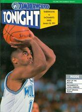 1991 Minnesota Timberwolves vs Sacremento Kings Program: Tony Campbell