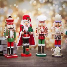Wooden Nutcracker Soldiers German Walnut Soldier Christmas Display Decorations
