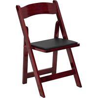 Flash Furniture HERCULES Series Mahogany Wood Folding Chair with Vinyl Padded...
