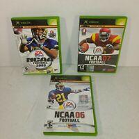 🏈 Original Xbox NCAA Football Lot '05 Complete, '06 No Manual, & '07 Complete