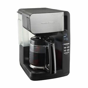 Hamilton Beach 12 Cup Programmable Coffee Maker, Front Fill Design, Removable Re