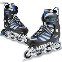 Adjustable Men Inline Skates Roller Blades Adult Size 8-10.5 Breathable US 4type