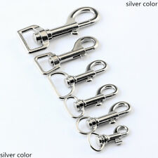 Lot of Trigger Clips Snap Hooks Bag Charm Lobster Clasps Swivel Keychain Silver