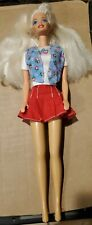 Mattel Barbie Doll & OUTFIT Clothes STRAWBERRY TOP and RED SKIRT 1990's