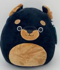 � Squishmallows 8� Mateo Rottweiler Black Dog Htf Plush Toy Stuffed Animal