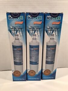 Ice Pure RWF0500A Refrigerator Water Filter Replacement (6 Mths) (X3) (A0)