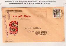 Lindbergh Flight Georgetown British Guiana - San Juan & St Thomas 1929 F6-26d