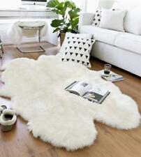 Natural Sheepskin Rug Quad - Soft, Fluffy, Thick & Shaggy Large 4 Pelt Sheepskin