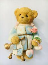 Very Rare Cherished Teddies 114042 Horn Trumpet Rose Love Is Greatest Gift Nib 9