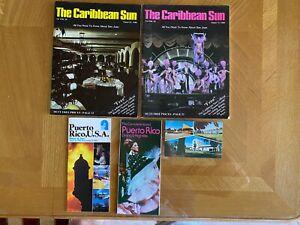 Vintage Puerto Rico Caribbean Sun Magazines, Travel Info, Bacardi Postcard