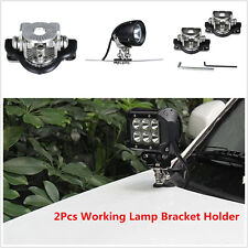 Stainless Steel 2pcs Car Clamp Mount Bracket Holder For Offroad Led Work Light