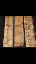 Five sanded reclaimed scaffold board solid shelves