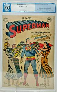 Superman #61 ~ DC 1949 ~ PGX 7.0 ~ Into Kryptonite