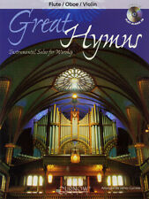 Great Hymns for Flute Oboe Violin Solo Christian Sheet Music Play-Along Book Cd