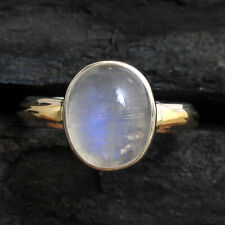 Oval Shape Moonstone Gemstone 925 Sterling Silver jewelry Ring Size US 8