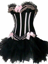Pink Corset and Tutu Moulin Rouge Burlesque Basque Dress Sexy Hen Party Costume