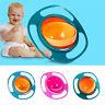 Non Spill Feeding Toddler Gyro Bowl 360 Rotating Baby Avoid Food Spilling