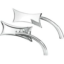 Arlen Ness Micro Chrome Four Point Left & Right Side Mirror Set Harley Metric Pa