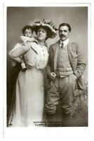 Antique RPPC postcard Clara Butt & Baby K Rumford actress stage theatre