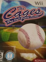 Cages Pro Style Batting Practice Nintendo Wii Game Works Good Tested
