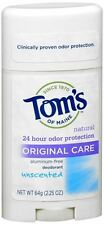 Tom's of Maine Natural Deodorant Stick Unscented 2.25 oz