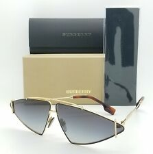 NEW Burberry Sunglasses BE3111 10178G 68mm Gold Grey Gradient AUTHENTIC Fashion