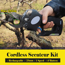 AU Electric Rechargeable Cordless Pruning Shears Secateur Branch Battery Garden
