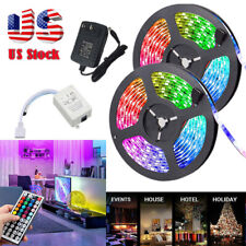 32FT Tira de Luz Flexible 3528 RGB LED SMD Luces de Hadas Remoto Sala Tv Fiesta Bar