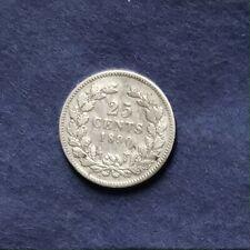 Niederlande 25 Cents Silber Wilhelm III. 1890 - selten!