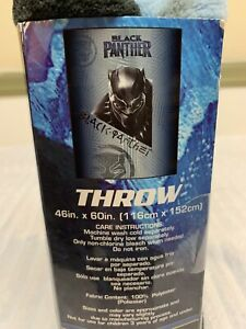 Marvel Black Panther Throw Blanket Jay Franco & Sons New