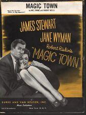 Magic Town 1947 James Stewart Jane Wyman Sheet Music