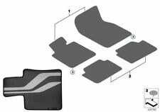 BMW Genuine M Performance Car Carpet Floor Mats FRONT ONLY F10 F11 51472365218