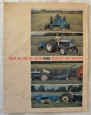 Ford Hay Makers, Toledo,Iowa Ia Tractor Equipment, Balers, Mowers, Rakes Booklet
