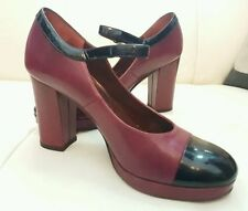 High (3 in. and Up) Block Leather Mary Janes Heels for Women