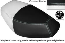 BLACK AND WHITE VINYL CUSTOM FOR PULSE SCOUT 50 BOATIAN DUAL SEAT COVER ONLY