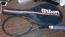 RARE! Wilson Ultra 2 MidSize PWS Tennis Racket 4 1/2 + Custom Case : Unstringed