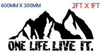 ONE LIFE LIVE IT. Car/Van/ caravan/ boat Window Sticker 4X4 DECAL  2FT X 1FT