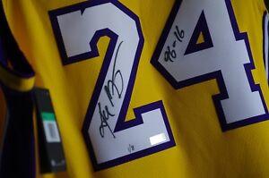 Panini Kobe Bryant Autographed & Inscription Retirement Jersey 1/8 LAKERS