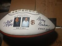 Bobby Bowden and Dick Vitale Signed Football with Picture of FSU Legend! RARE!