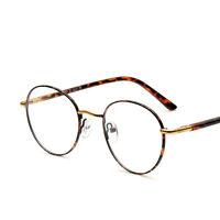 Vintage Round Tortoise Gold Eyeglass Frame Full Rim Glasses Spectacles Rx