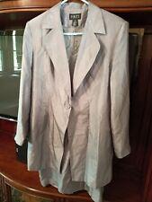Finity 100% Silk Sheath Dress And Jacket Size 12 Gray Lightweight