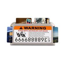 Auto Sun Visor Holder for Driver License, Registration, Insurance, C Cards -Gray