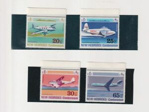 New Hebrides (English)  - 1972  Aircraft  Unmounted Mint Set of 4
