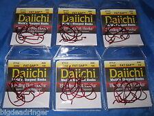 42 Daiichi 1/0 Fat Gap Worm Hooks Red Bait Extra Wide Gap Finesse Worm 6pks