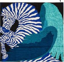 Authentic Hermes GM Cashmere Scarf Shawl Zebra Pegasus 140cm  Blue Turquoise NEW
