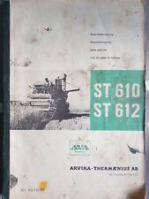 VOLVO AVA ST610 ST612 COMBINE PARTS CATALOGUE