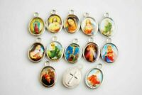 Wholesale 100Pcs 15mm Religious Crosses Enamel Medals Charms Cross Pendants#Q