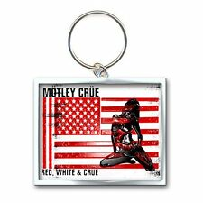 Motley Crue - Keychain - Metal - Red White Crue Logo - Licensed New